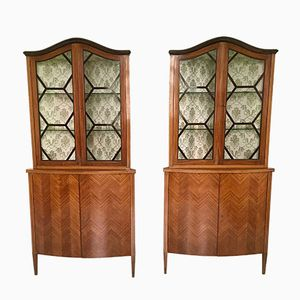 Corner Cupboards, 1940s, Set of 2