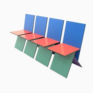 Vilbert Stühle von Verner Panton für Ikea, 1993, 4er Set