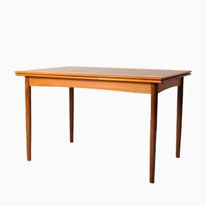 Danish Teak Extendable Dining Table, 1960s