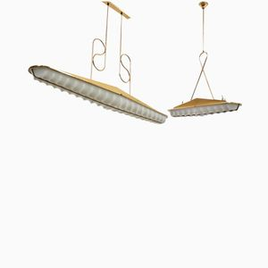 Large Mid-Century Methacrylate Pendant Lamps, Set of 2