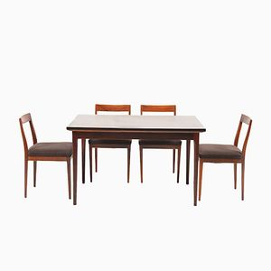 Mid-Century Rosewood Dining Group from Lübke