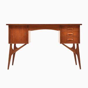 Mid-Century Danish Organic Teak Desk