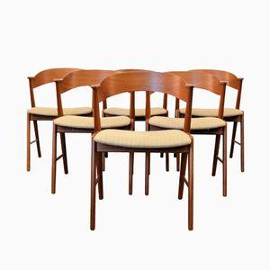 Chaises de Salon Mid-Century par Kai Kristiansen pour K.S. Møbler, Set de 6