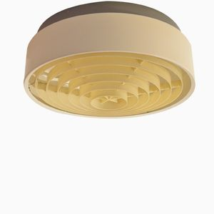 Mid-Century Round Danish Metal Ceiling Lamp from Louis Poulsen