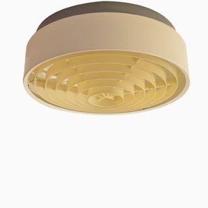 Runde Dänische Mid-Century Metall Deckenlampe von Louis Poulsen