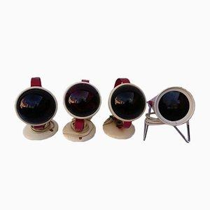Infrarote Lampen von Charlotte Perriand für Philips, 1960er, 4er Set