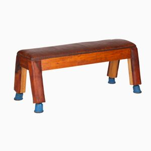Leather Gymnastic Bench, 1930s
