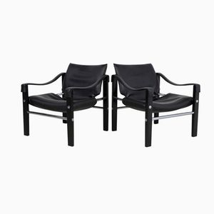 Black Chelsea Chairs by Maurice Burke for Arkana, Set of 2