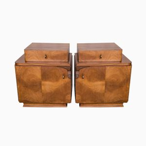Dutch Art Deco Night Stands, 1930s, Set of 2