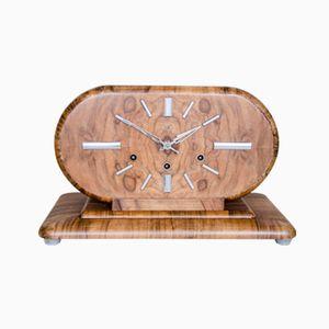 Art Deco Walnut Mantel Clock, 1930s