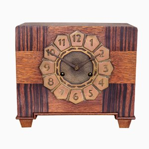 Amsterdam School Style Art Deco Mantle or Table clock, 1920s