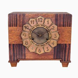 Horloge de Cheminée Art Déco Style École d'Amsterdam, 1920s