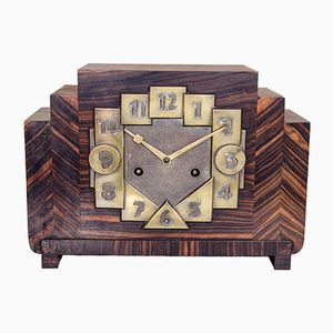 Amsterdam School Art Deco Mantle Clock, 1930s