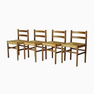 Eschenholz Esszimmerstühle von Wim Den Boon, 1950er, 4er Set