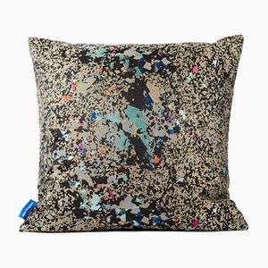 Black Multi Crystalline Square Cushion from Other Kingdom
