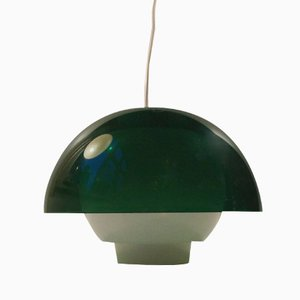 Ergo Green Plexiglass Pendant Lamp by Bent Karlby for A. Schroder Kemi, 1970s