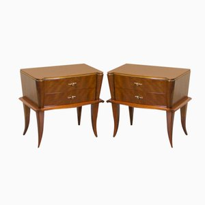 Vintage French Art Decó Night Stands, Set of 2