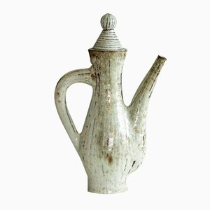 French Sculptural Teapot by Jean Derval for Atelier du Portail