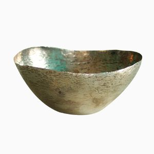 Vintage Italian Silver Hammered Bowl by Mario Pinton