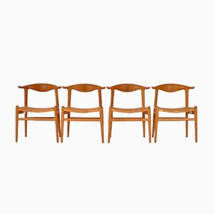 JH505 Chairs by Hans J. Wegner for Johannes Hansen, 1952, Set of 4