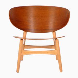 Vintage Teakholz Shell Stuhl von Hans J. Wegner für Fritz Hansen
