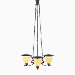 Lampe à Suspension en Acier Inoxydable, Autriche, 1950s