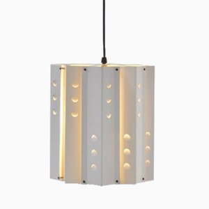 White Die Cut Ceiling Lamp from Anvia, 1960s