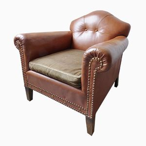 Vintage Tan Leather Club Chair