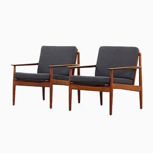Vintage Lounge Chairs by Arne Vodder for Glostrup Møbelfabrik, Set of 2