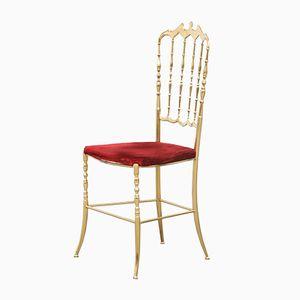 Italienischer Vintage Messing Chiavari Stuhl, 1970er