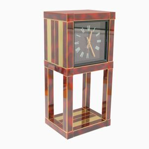 Vintage Desk Clock by Willy Rizzo for Lumica