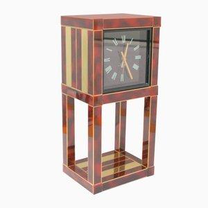 Vintage Schreibtisch-Uhr von Willy Rizzo für Lumica