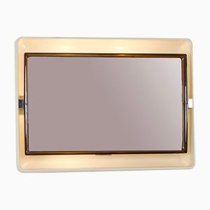 Vintage Wall Mirror with Lighting from Allibert, 1970s