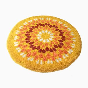 Yellow Pop Art Shag Rug, 1970s