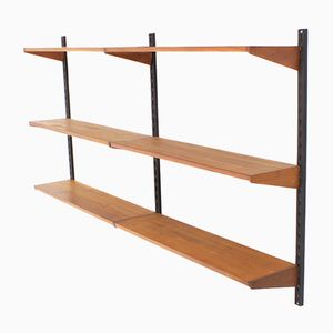 Vintage Teak Wall Unit by Kai Kristiansen for Feldballes Mobelfabrik