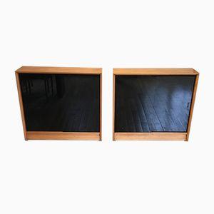 Vintage Oak Bookcases, Set of 2