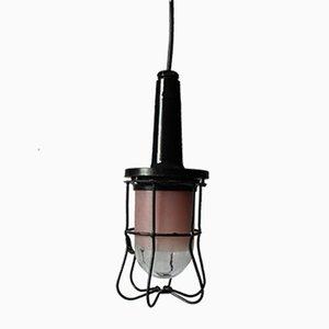 Vintage Industrial Hanging Lamp from Prodryn, 1979