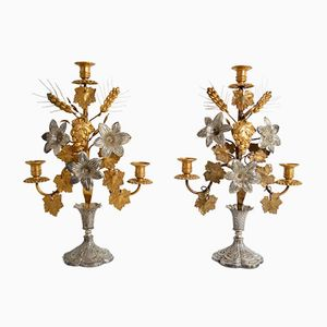 Antique French Candlesticks, 1890s, Set of 2