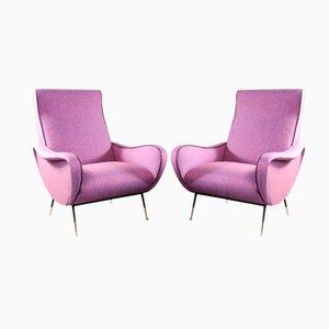 Italian Ladies' Chairs, 1950s, Set of 2