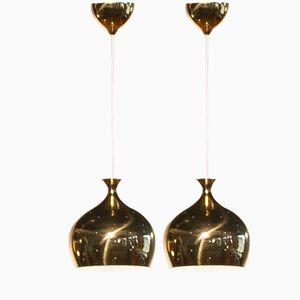 Onion Pendants by Helge Zimdal for Falkenberg, 1960s, Set of 2