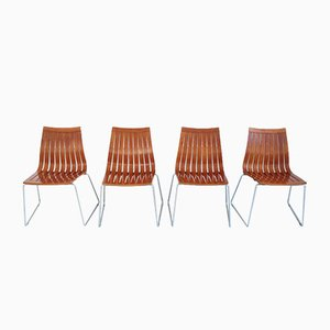 Tönnestav Dining Chairs by Kjell Richardsen for Tynes Møbelfabrik, 1960, Set of 4