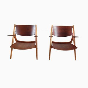 CH-28 Chairs by Hans J. Wegner for Carl Hansen, 1951, Set of 2
