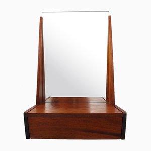 Danish Teak Mirror with Drawer, 1960s
