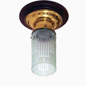 Austrian Art Nouveau Ceiling Lamp