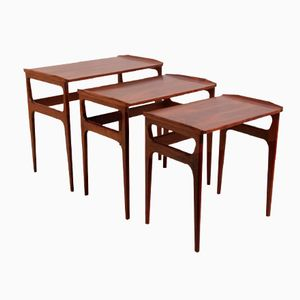 Rosewood Nesting Tables by Domus Danica for Heltborg Mobler, 1960s