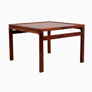 Danish Rosewood Side Table with Stretchers, 1960s