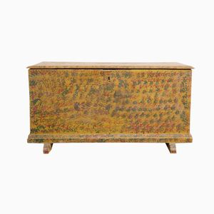 Painted Wooden Trunk, 1860s
