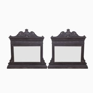 Cast Iron Over-Mantel Mirrors, 1860s, Set of 2
