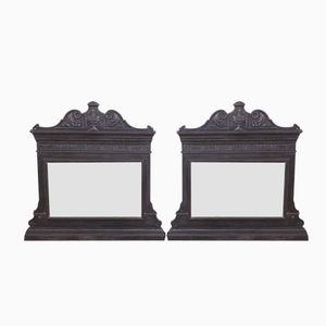 Kaminsims Spiegel aus Gusseisen, 1860er, 2er Set
