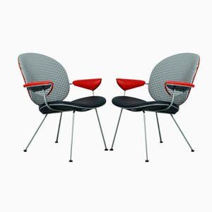 Vintage Modell 302 Stühle von W.H. Gispen für Kembo, 2er Set